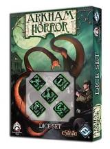 Horror w Arkham: czarno-zielony zestaw kości