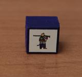 Obrazek akcesorium do gry Drewniany pionek 15 x 15 x 10 mm - KOZ Serdiuk