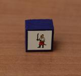 Obrazek akcesorium do gry Drewniany pionek 15x15x10 mm - KOZ Mołojcy