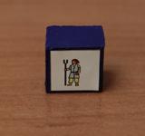 Obrazek akcesorium do gry Drewniany pionek 15 x 15 x 10 mm - KOZ Czerń
