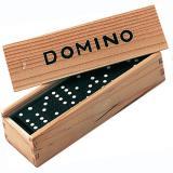 Obrazek gra planszowa DOMINO - 28 ELEMENTÓW DREWNIANE