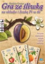 Obrazek gra planszowa Gra ze śliwką na okładce i liczbą Pi w tle