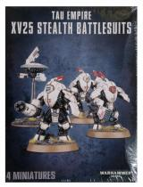 figurka, bitewniak Tau Empire XV25 Stealth Battlesuits