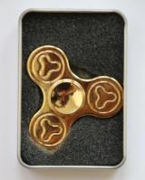 Hand Spinner Metalowy zdobiony złoty