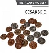 Obrazek akcesorium do gry Metalowe Monety - Cesarskie (zestaw 24 monet)