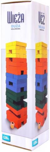 JENGA - kolorowa duża