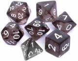 Obrazek akcesorium do gry Kości REBEL Komplet do RPG - Kryształowe - Czarne