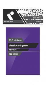 Koszulki Rebel (63,5x88 mm) Classic Card Game 100 sztuk Fioletowe