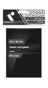Koszulki Rebel (63,5x88 mm) Classic Card Game 100 sztuk Czarne