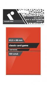 Koszulki Rebel (63,5x88 mm) Classic Card Game 100 sztuk Czerwone