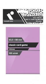 Obrazek akcesorium do gry Koszulki Rebel (63,5x88 mm) Classic Card Game 100 sztuk Różowe
