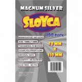 Koszulki SLOYCA (70x110 mm) Magnum Silver 100 sztuk
