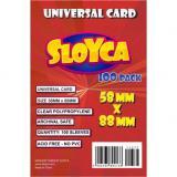 Obrazek akcesorium do gry Koszulki SLOYCA (58x88 mm) Universal Card 100 sztuk