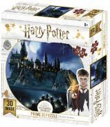 Obrazek puzzle Harry Potter: puzzle - Hogwart nocą (500 elementów)